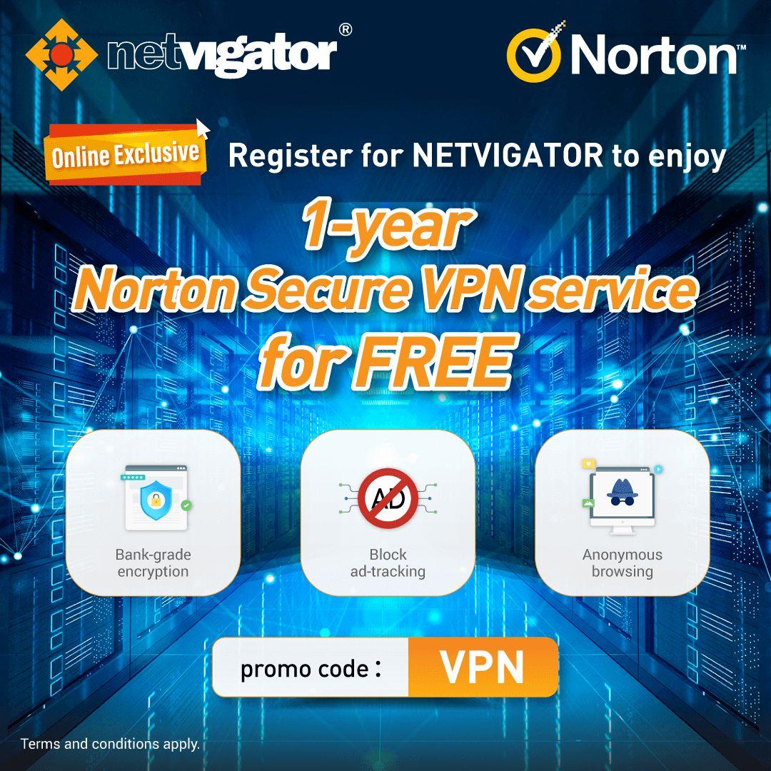 1-year Norton Secure VPN service