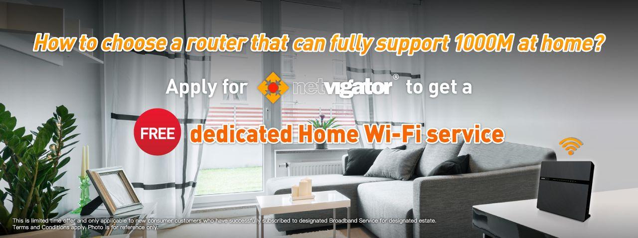 Get a free dedicated Home Wi-Fi service