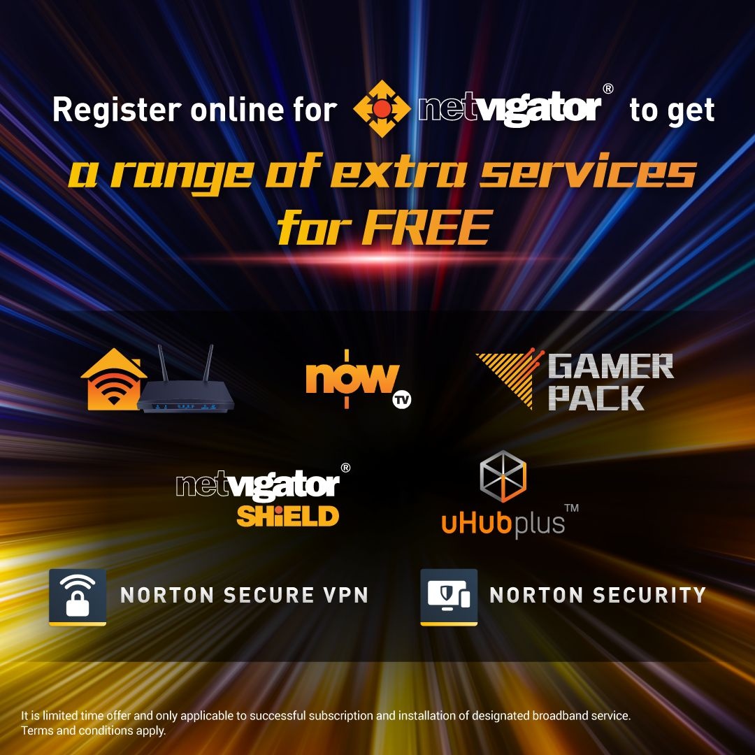 Register online for NETVIGATOR to get a range of extra services for free